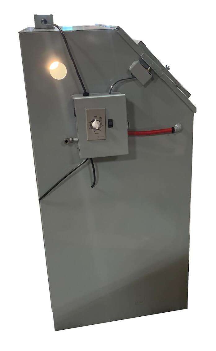 Cyclone T14 tumble blast cabinet - Side