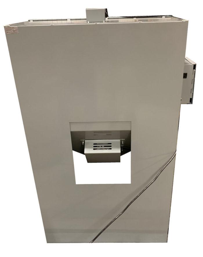 Cyclone T14 tumble blast cabinet - Rear