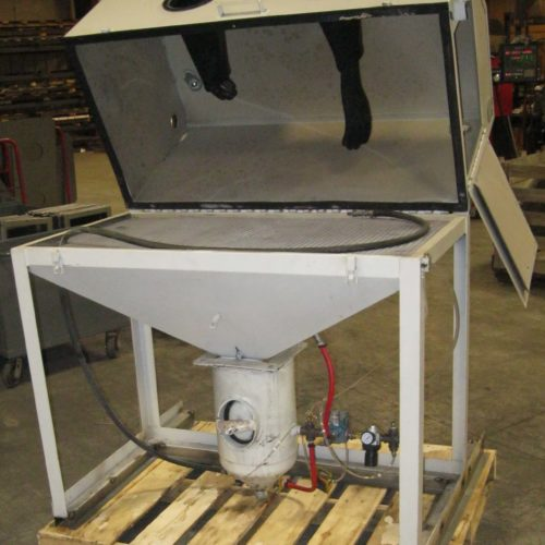 48×26 Direct Pressure Sandblasting Cabinet (Refurbished)