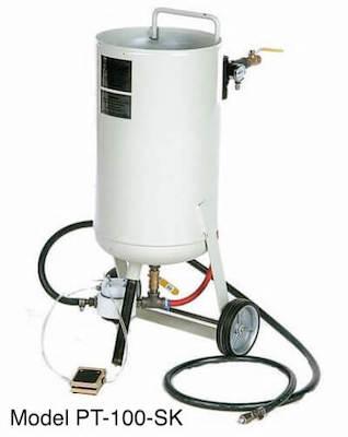 pressure-sandblaster-model pt100-sk