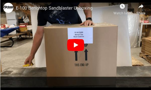 benchtop sandblast cabinet