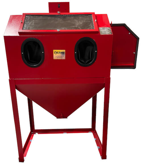 abrasive-blaster-cabinet-front-open-cyclone-usa